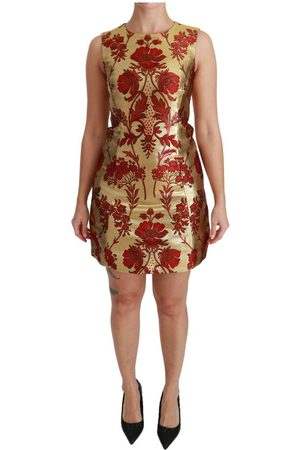 Dolce & Gabbana Lurex Jacquard Midi Slim Dress