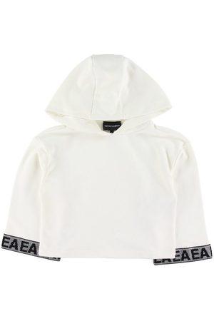 Emporio Armani Sweatshirts - Hættetrøje - Crop - m. Pailletter