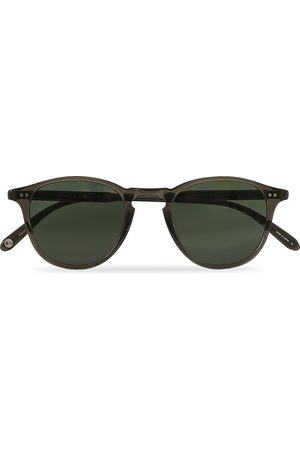 GARRETT LEIGHT Mænd Solbriller - Hampton 46 Sunglasses Black Glass