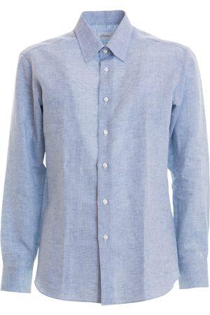 BRIONI Long-sleeved linen shirt