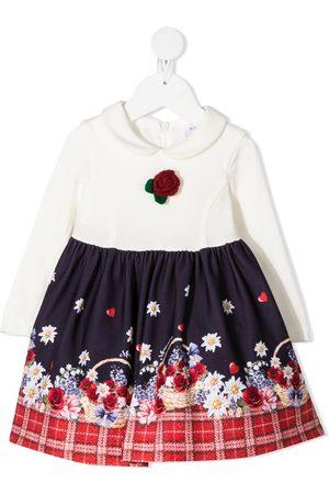 MONNALISA Kjoler - Flower basket print skater dress