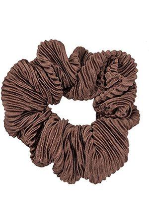 Bows By Stær Håraccessories - Scrunchie - Plisse Golden Brown