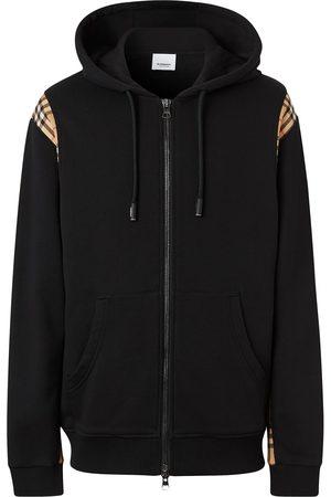 Burberry Hættetrøje med ternet panel og lynlås