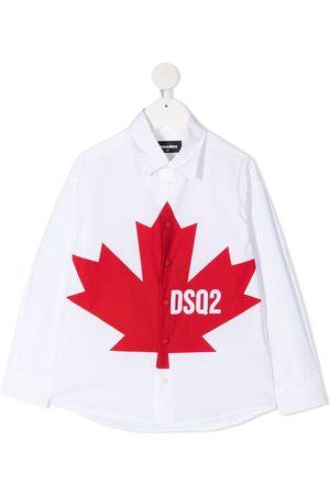 Dsquared2 Leaf-print cotton shirt