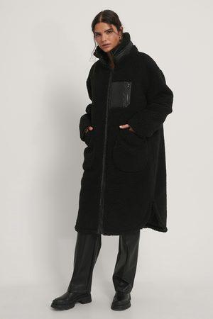 NA-KD Teddyfrakke Med Påsyede Lommer