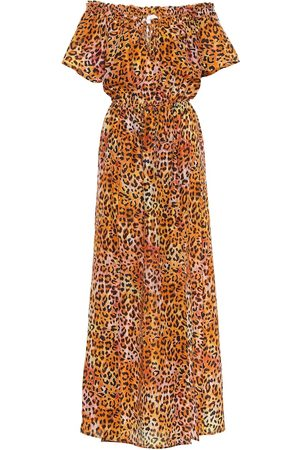 ANNA KOSTUROVA Exclusive to Mytheresa – Leopard-print silk maxi dress