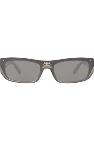 Balenciaga Shield rectangle-frame sunglasses