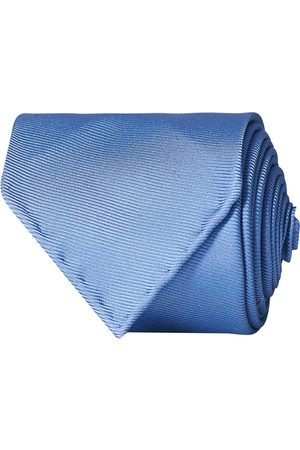 Drake's Mænd Slips - Handrolled Woven Silk 8 cm Tie Blue