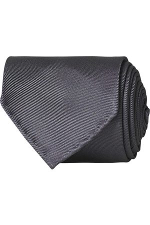Drake's Handrolled Woven Silk 8 cm Tie Grey