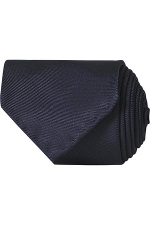 Drake's Mænd Slips - Handrolled Woven Silk 8 cm Tie Navy