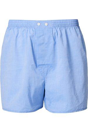 Derek Rose Mænd Underbukser - Classic Fit Cotton Boxer Shorts Blue