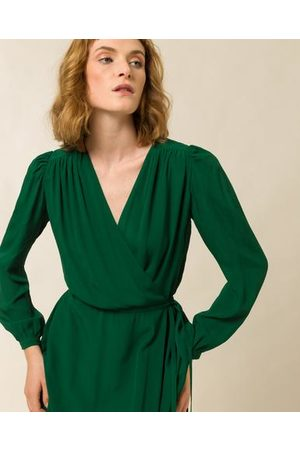 Ivy & Oak LIME WRAP DRESS