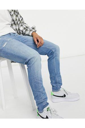 ASOS Lyseblå skinny jeans i vintage-inspireret, japansk vask