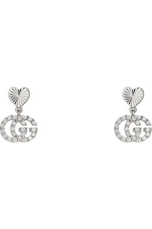 Gucci GG Running 18k earrings with diamonds