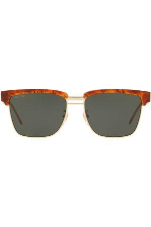 Gucci Tonede solbriller med firkantet stel
