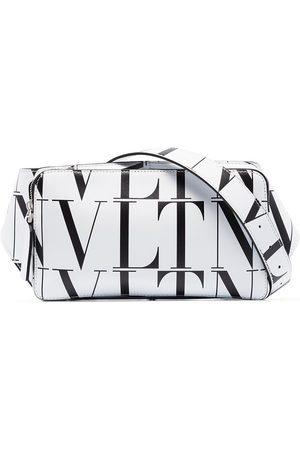 VALENTINO GARAVANI Taske i læder med VLTN-tryk