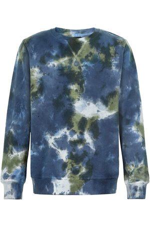 The New Sweatshirts - Sweatshirt - Rex Tie Dye - Thyme/Navy Blazer