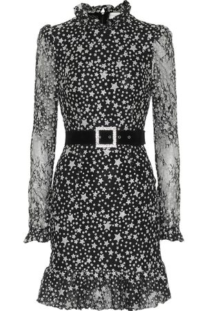 Rebecca Vallance Notte printed floral-lace minidress