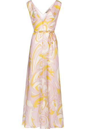 Emilio Pucci Kvinder Mønstrede kjoler - Printed silk crêpe midi dress