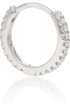Maria Tash Eternity 18kt white gold single earring with diamonds