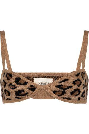 Khaite Kvinder Bøjleløs BH - Eda cheetah-print cashmere bralette