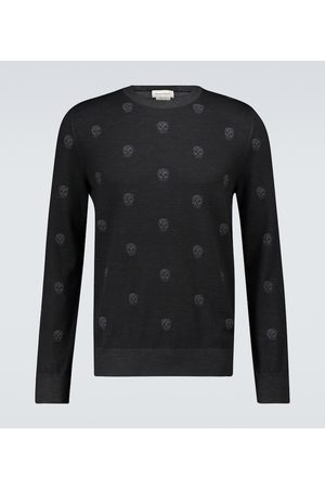Alexander McQueen Skull knitted sweater