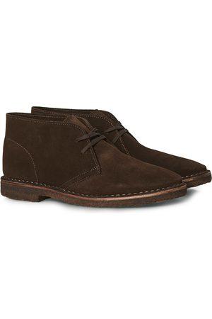 Drake's Mænd Støvler - Clifford Suede Desert Boots Dark Brown