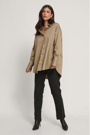 NA-KD Genanvendt Oversize Skjorte Med Lomme