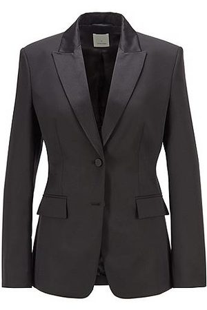 HUGO BOSS Regular-fit tuxedo jacket with silk trims