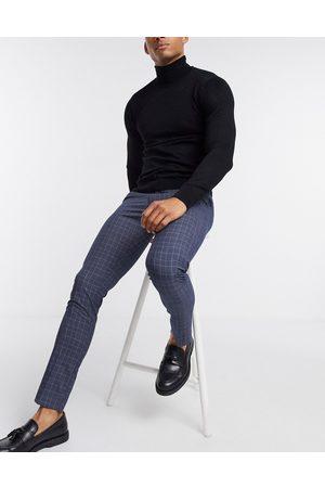 New Look Jakkesætsbukser i skinny pasform med tern