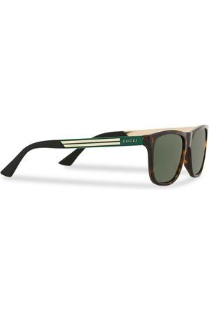 Gucci Mænd Solbriller - GG0687S Sunglasses Havana/Green