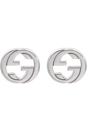 Gucci Interlocking G sterling silver earrings