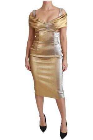 Dolce & Gabbana Bodycon Sheath Midi Dress