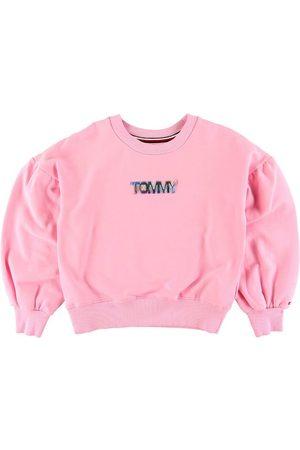Tommy Hilfiger Sweatshirts - Sweatshirt - Rosa m. Tekst