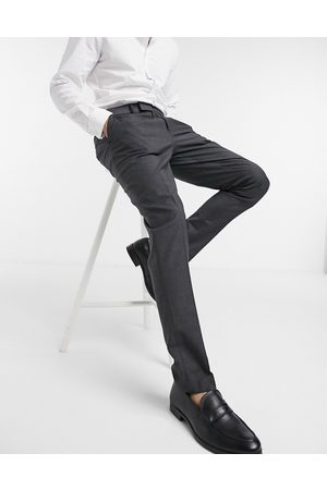 ASOS DESIGN Kulfarvede smarte skinny bukser fra -Grå