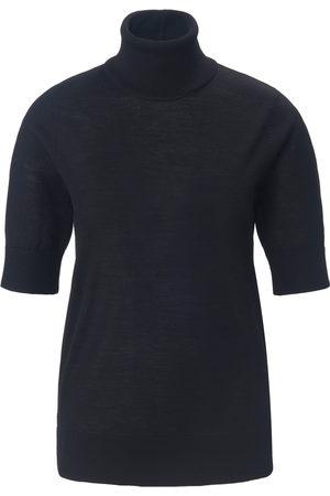 Peter Hahn Strikbluse rullekrave i 100% ren ny uld Fra