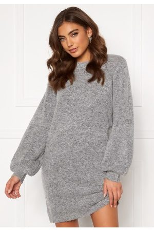 Object Eve Nonsia Knit Dress Light Grey Melange S