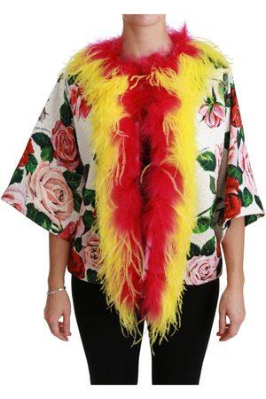 Dolce & Gabbana Floral Coat Capte Fur Roses Jacket