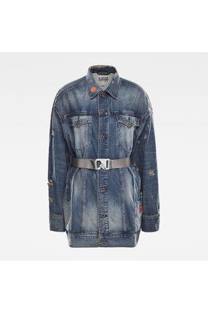 G-Star Women E 3301 Oversized Boyfriend Jacket Medium blue
