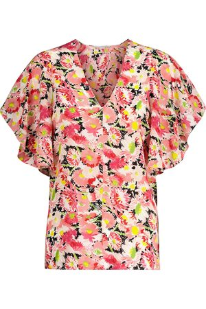 Stella McCartney Floral silk crêpe blouse