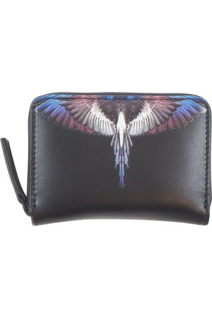 MARCELO BURLON Wings Leather Compact Pocket Bag