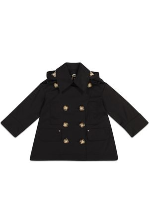 Burberry Piger Trenchcoats - Hooded cotton twill trench coat