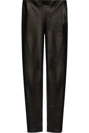 Samsøe Samsøe Leather trousers