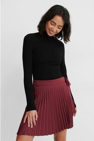 NA-KD Kvinder Mininederdele - Wrap Pleated Mini Skirt