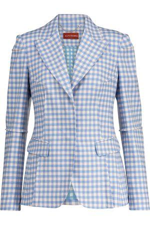 Altuzarra Beatrix gingham stretch-blend blazer