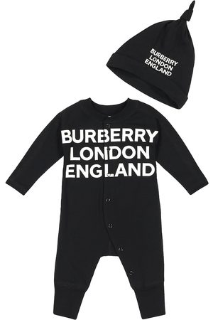 Burberry Baby stretch-cotton onesie and hat set