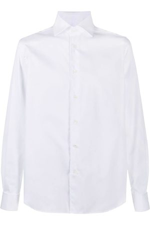 corneliani Curved hem longsleeved shirt
