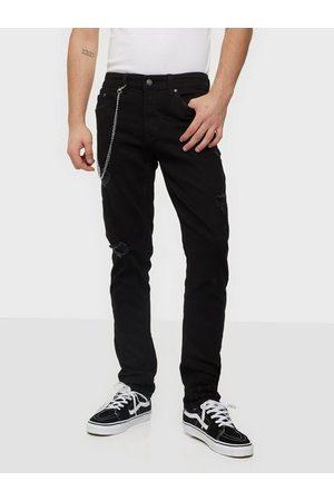 Denim Project Mr Red Chain Destroy Jeans Black