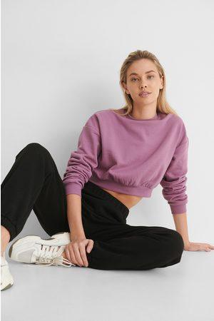 NA-KD Økologisk Cropped Sweatshirt
