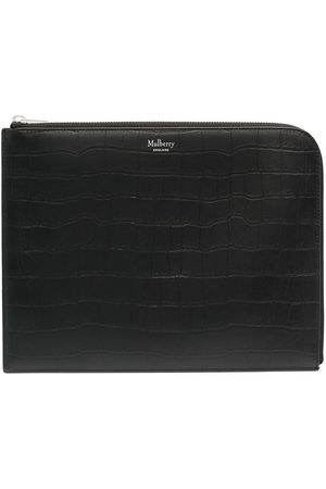 MULBERRY Crocodile-effect zip-around pouch